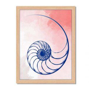 Dekoracja ścienna Transparent Blue Shell II, cena: ok. 329,90 zł. Fot. Westwing.pl