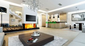 Nowoczesna architektura domu, wpisana jednocześnie w klasyczną bryłę pokrytą dwuspadowym dachem, z pewnością przyciągnie uwagę większości inwestorów poszukujących idealnego projektu.