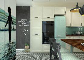 Na ścianie pomalowanej farba kredowo-magnetyczną domownicy mogą rozpisać menu i zakupy spożywcze na cały tydzień ;)