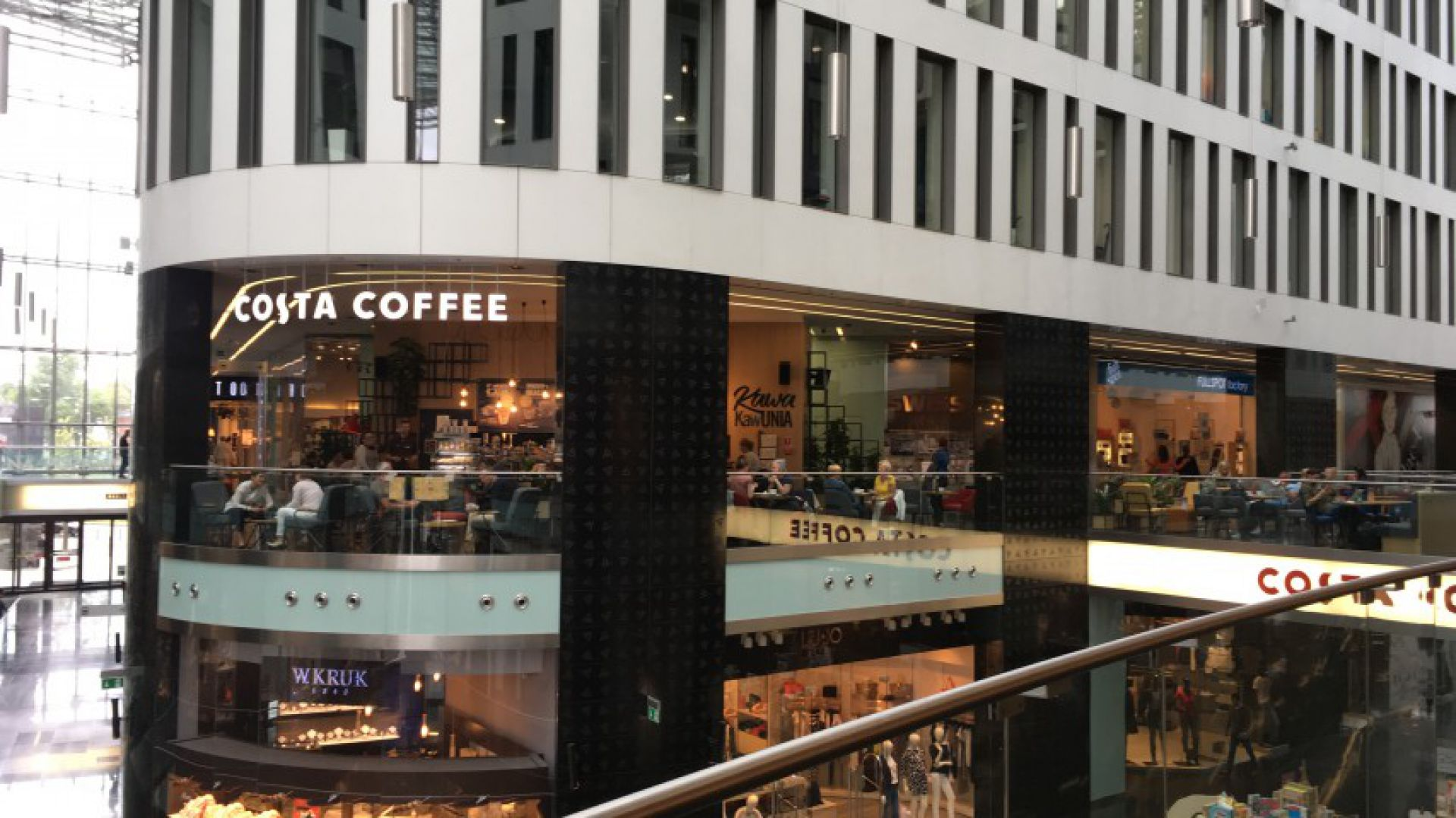 COSTA COFFEE w warszawskim centrum handlowym Plac Unii City Shopping fot. mat. prasowe