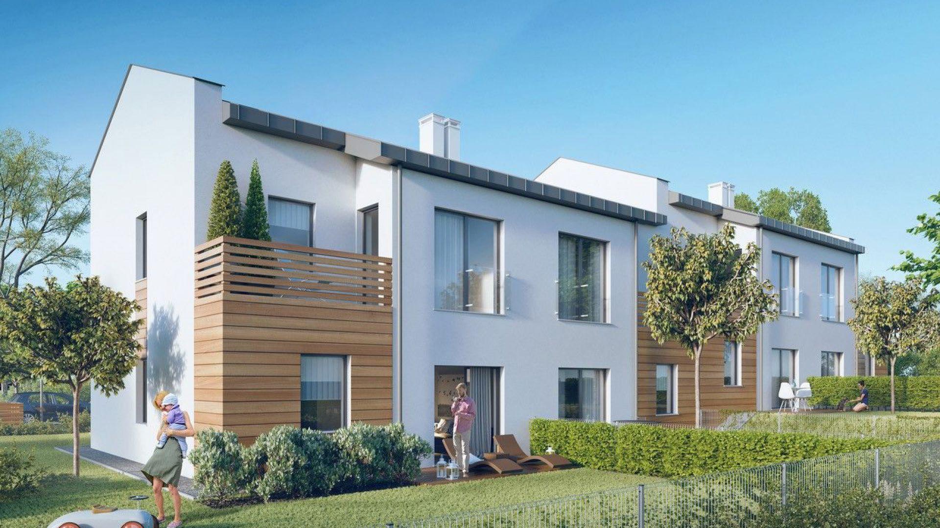 Wizualizacja budowanego osiedla Osada Borkowo. Fot. ThermoOrganika