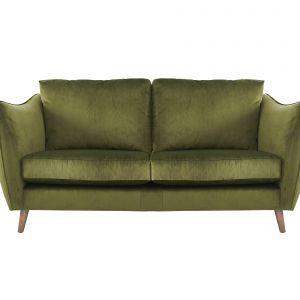 Dwuosobowa sofa City Loft w przyjemnej w dotyku aksamitnej tkaninie. Fot. Furniture Village