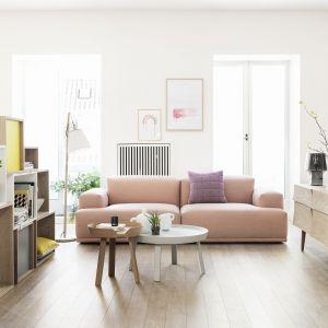 Aranżacja salonu z sofą Connect o nowoczesnym skandynawskim wyglądzie. Fot. Muuto