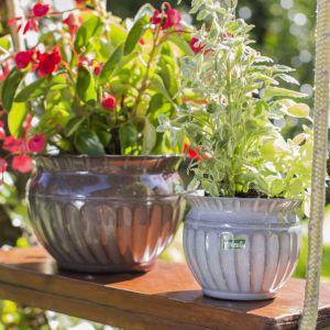Dekoracyjne osłonki i doniczki na kwiaty. Fot. Galicja dla Twojego Dom