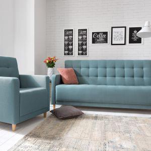 Zestaw wypoczynkowy Lind. Sofa posiada funkcję spania. Fot. Black Red White