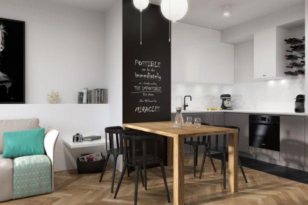 Mieszkanie typu studio w stylu skandynawskim