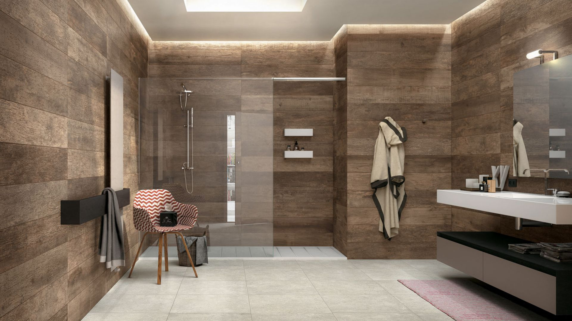Modna łazienka Płytki Jak Drewno Są Na Topie