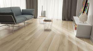 Płytki coraz śmielej stosujemy dziś w salonie. Kolekcje imitujące drewno lub beton nadadzą aranżacji wspaniałego klimatu.