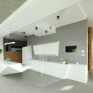 Pomysł na białą kuchnię. Projekt: Konrad Grodziński. Fot. Bartosz Jarosz
