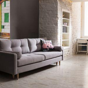 Ustawiona w salonie sofa Pure nie tylko zachwyci swoim wyglądem, ale również ozdobi całe pomieszczenie. Posiada funkcję rozkładania. Cena 1.999 zł. Fot. Salony Agata
