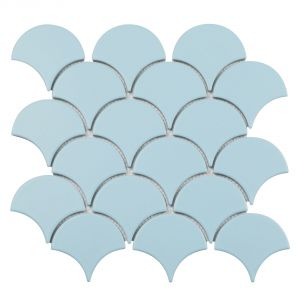 Mozaika Matte Light Blue. Fot. Raw Decor
