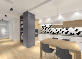 Projekt salonu połączonego z kuchnią i jadalnią - MKdezere
