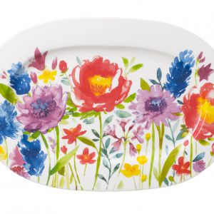 Półmisek owalny Anmut Flowers. Fot. Villeroy&Boch/ rossi.pl