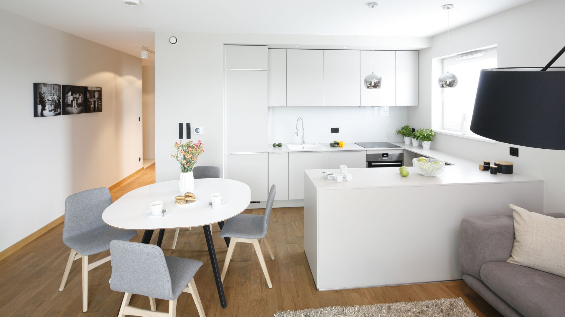 Kuchnia Otwarta Na Salon Piękny Projekt Wnętrza