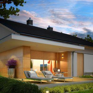 Dom z tarasem. Projekt: Iwo G1. Fot. Pracownia Projektowej Archipelag