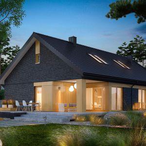 Dom spełni oczekiwania inwestorów, którzy cenią luksus przestrzeni i lubią odpoczywać w domowym zaciszu. Projekt Daniel IV G2. Fot. Pracownia Projektowa Archipelag