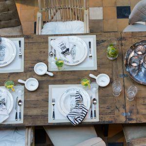 Zastawa stołowa Riviera Maison na przyjęcie w ogrodzie. Fot. House&more