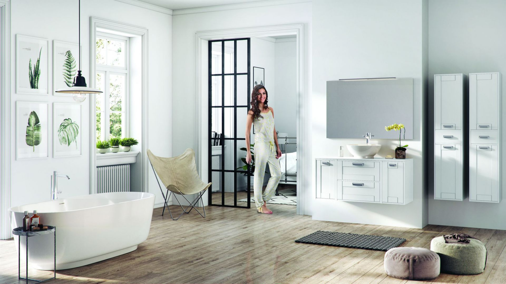Meble łazienkowe w stylu skandynawskim: kolekcja Inge. Fot. Elita