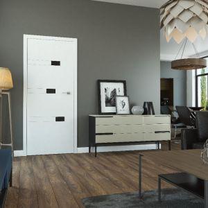 Drzwi Diamond (biały lakier, szyba malowana czarna). Fot. Classen