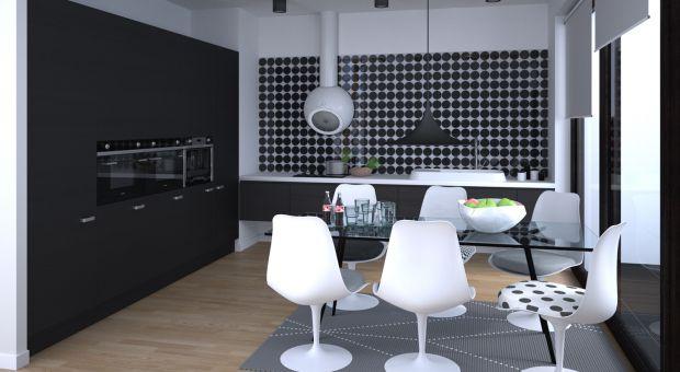 Minimalistyczny apartament. Tu rządzą czerń i biel