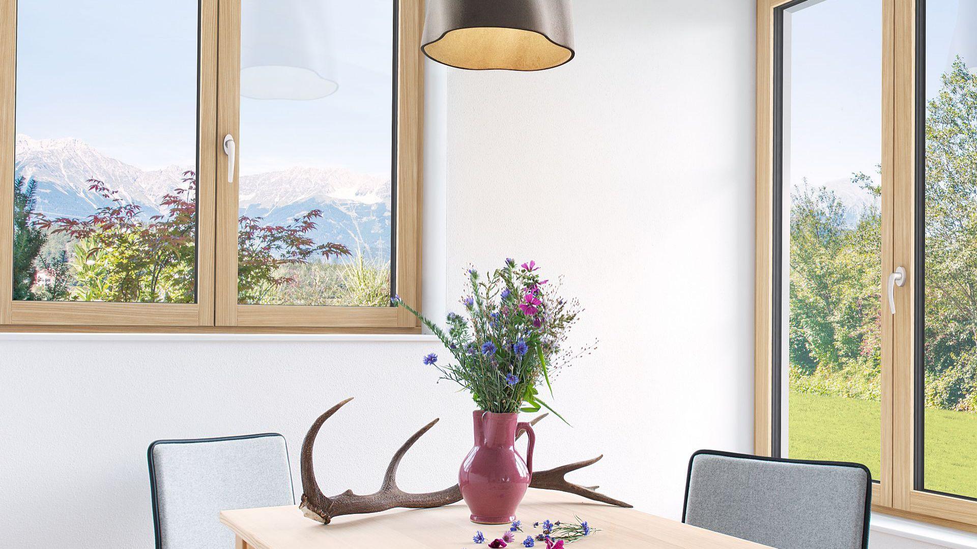 Okno drewniano-aluminiowe HF 410/Internorm. Produkt zgłoszony do konkursu Dobry Design 2018.