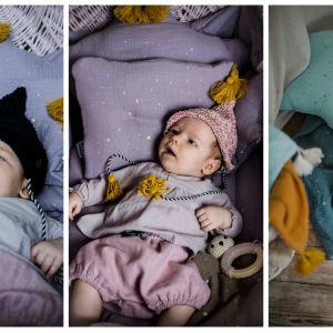 Muślinowa pościel i otulacze dla niemowląt. Fot. LiLu