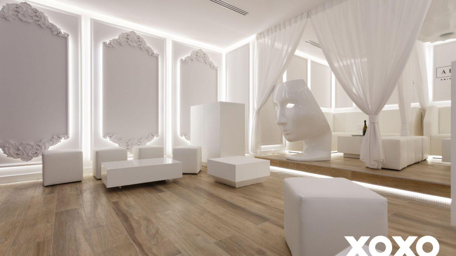 Klub Xoxo Party zaprojektowany przez pracownię Naboo.