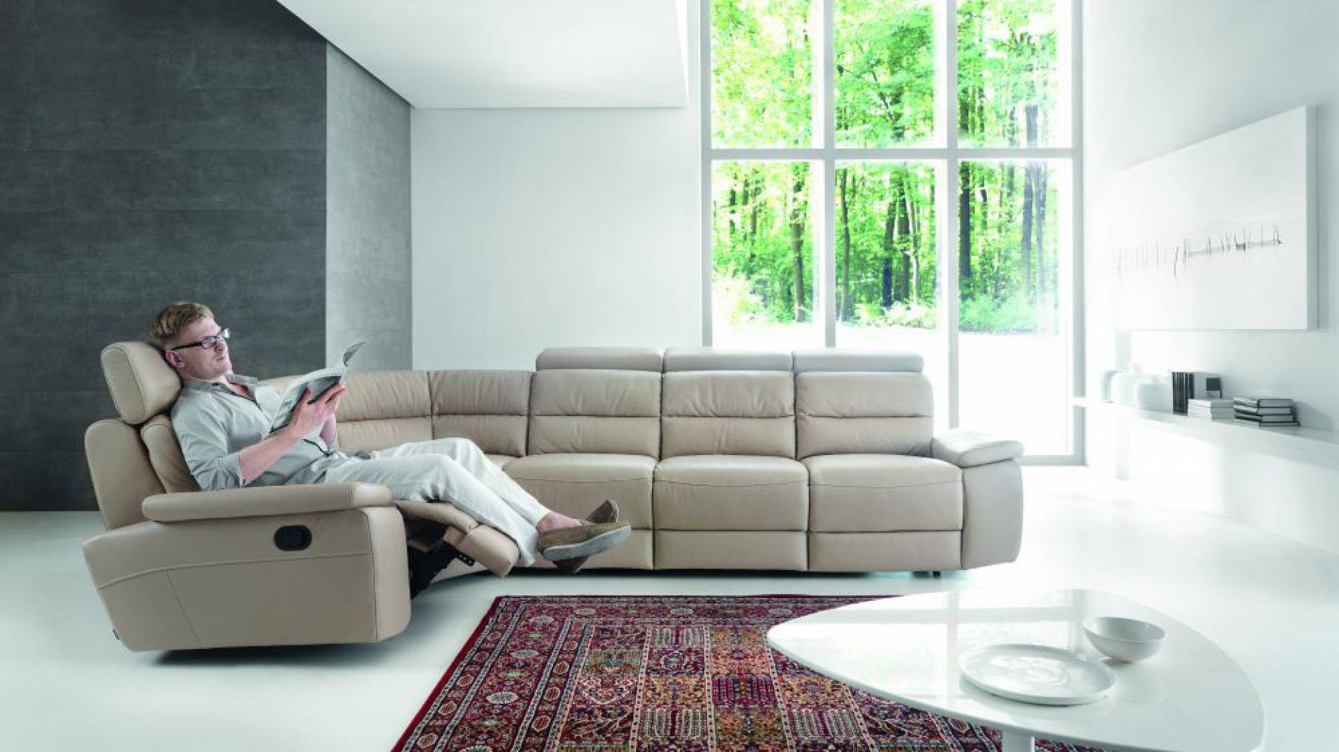 Narożnik Stella posiada funkcję relaksu, która zapewni odpowiedni wypoczynek. Fot. Gala Collezione