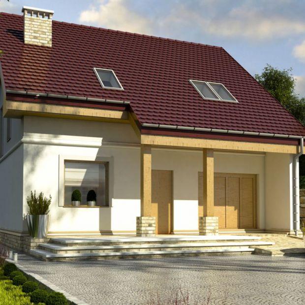 Mały dom z poddaszem - zobacz projekt i wnętrza