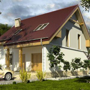 Dom o powierzchni 100 metrów kwadratowych kryje bardzo funkcjonalny układ pomieszczeń. Fot. Dom dla Ciebie Pracownia  Projektowa Archeco