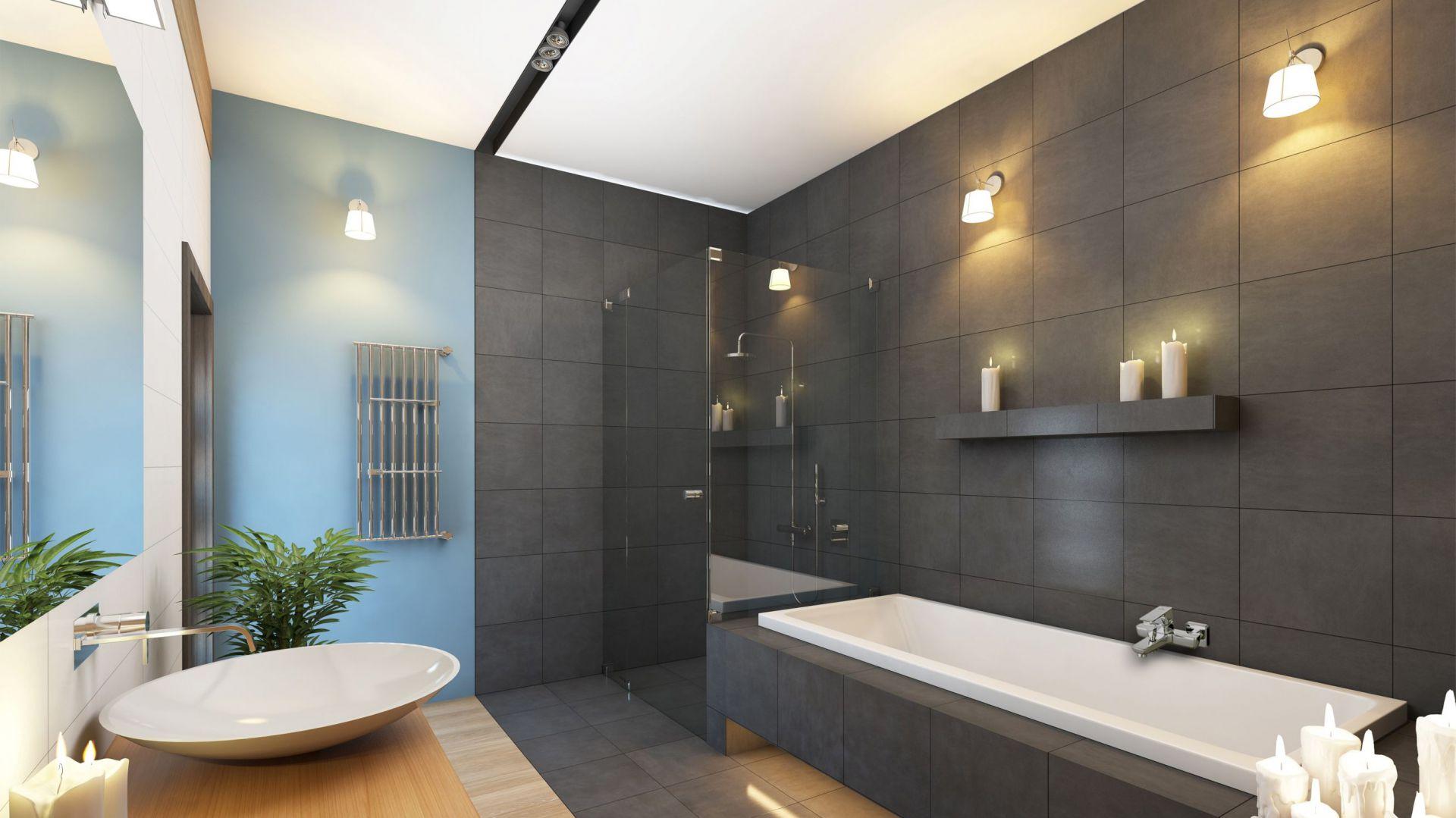 Aranżacja nowoczesnej łazienki: bateria wannowa Nyks. Fot. invena