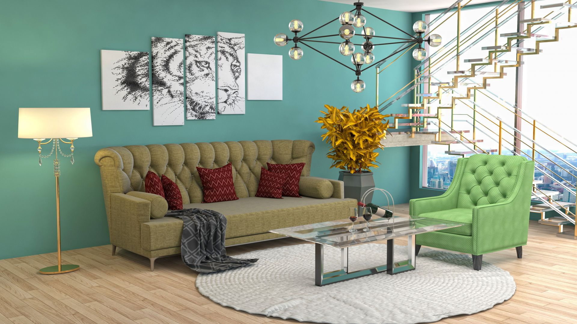 Dom w barwach jesieni. Nadchodzące trendy w dekoracji wnętrz. Fot. Franc Gardiner