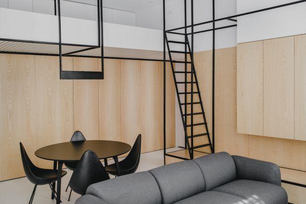 Małe wnętrze - tak zaprojektowano mieszkanie w krakowskiej kamienicy
