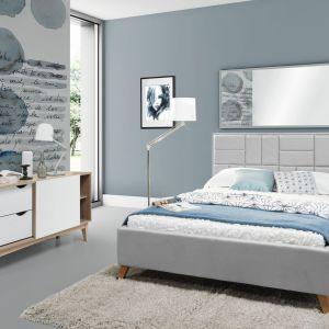 Łóżko Catlin ma niebanalny wzór zagłówka. Prezentuje się modnie i nowocześnie. Fot. Wajnert Meble