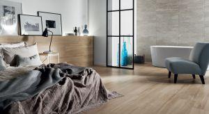 Płytki ceramiczne coraz częściej wychodzą poza łazienki i kuchnie. Doskonale prezentują się również w przestrzeni wypoczynkowej, np. w sypialni.
