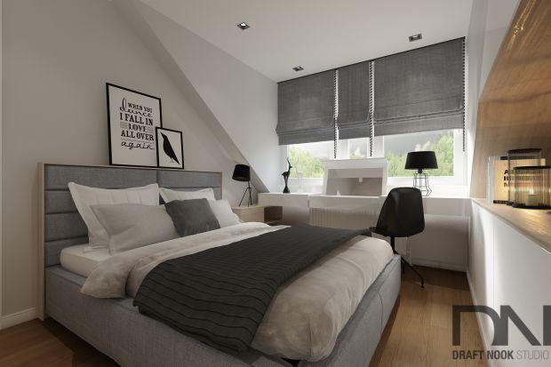 Szara sypialnia z klimatem