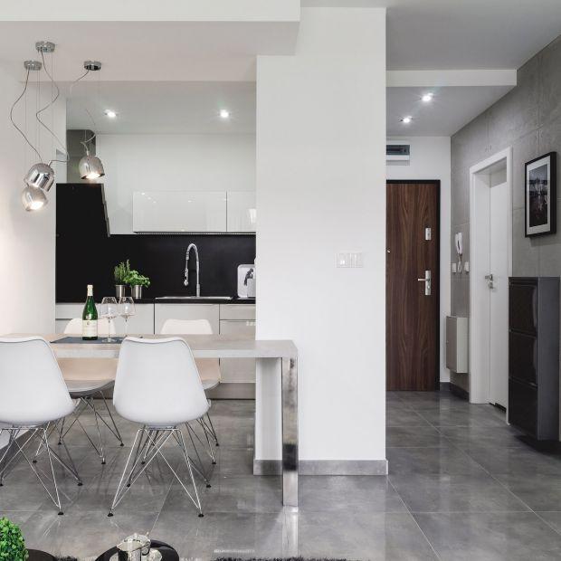 Nowoczesne mieszkanie w szarościach - projekt wnętrza