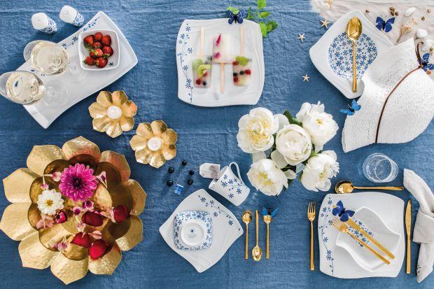 Piękna aura późnego lata, kuszące sezonowe menu i towarzystwo bliskich osób – oto przepis na doskonałe przyjęcie. Klimat tych wyjątkowych chwil warto podkreślić poprzez dbałość <br />o detale i oryginalne nakrycie stołu.
