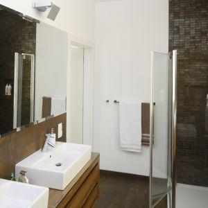 Prysznic w łazience. Projekt: Agata Piltz. Fot. Bartosz Jarosz