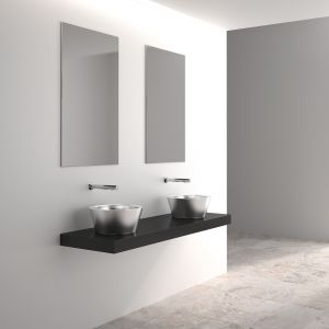 Umywalka nablatowa ALGUI/Delabie. Produkt zgłoszony do konkursu Dobry Design 2018.