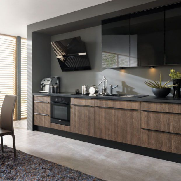 Kuchnia w kolorze ciemnego drewna - zobacz sprawdzone pomysły