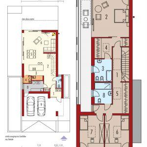 Rzuty domu. Dom EX 17 W2 Energo Plus. Projekt: Artur Wójciak. Fot. Pracownia Projektowa Archipelag
