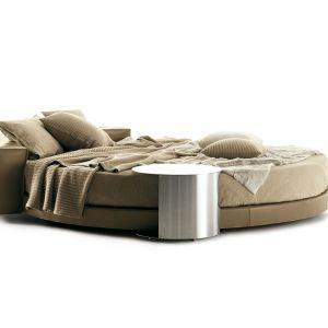 Okrągły kształt łóżka Glamour zapewnia niezwykłe doznania komfortu, a sam mebel staje się centralnym elementem aranżacji sypialni. Fot. Mood-Design