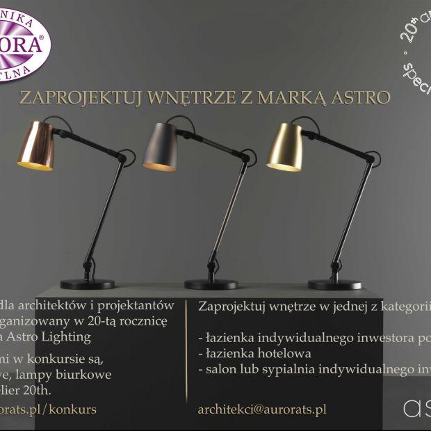 Konkurs Astro Lighting - dla projektantów wnętrz