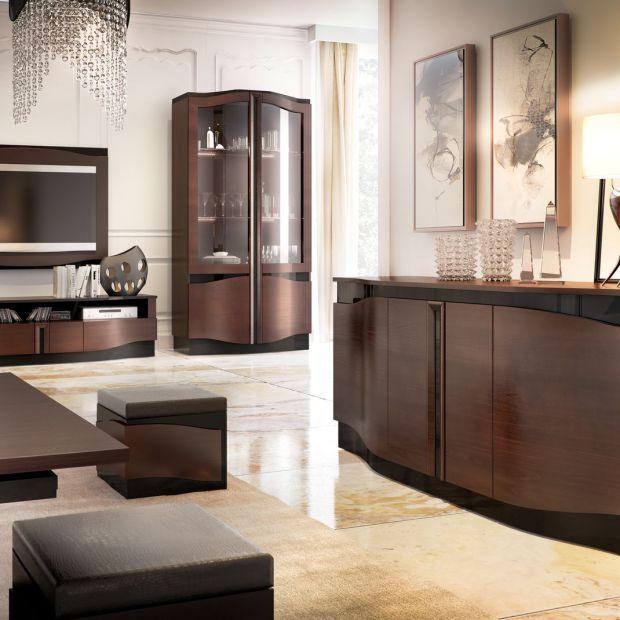 Meble do salonu - eleganckie witryny stojące
