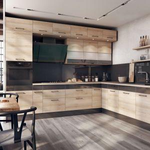 Kolor w kuchni to zabieg pozwalający ożywić monotonną przestrzeń, nadać jej więcej energii i niepowtarzalnego wyrazu. Fot. Spółka Meblowa KAM