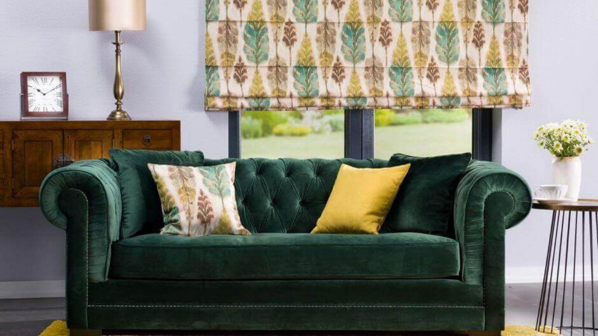 Kolekcja Urban Jungle, sofa Chesterfield Classic. Fot. Dekoria.pl