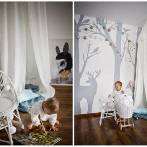 Tekstylia z muślinu to najlepszy wybór jeśli chodzi o aranżację pokoików dziecięcych. Fot. LiLu