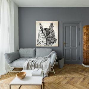 Obraz na kanwie Abstract Owl, 149 zł za m² + rama 30 zł za m. b. Fot. Fototapeta4u.pl