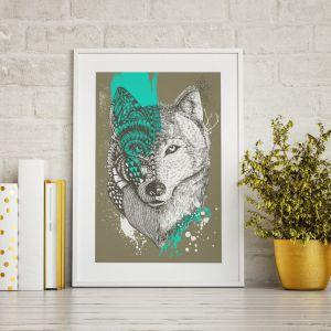 Obraz na kanwie Wolf, 149 zł za m² + rama 30 zł za m. b. Fot. Fototapeta4u.pl